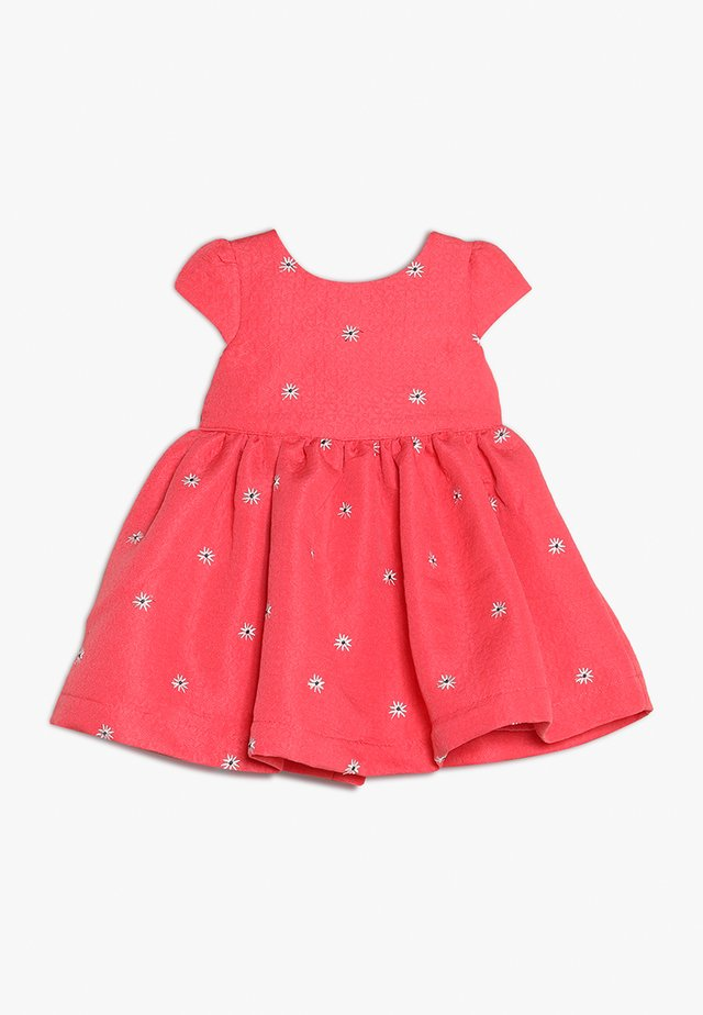 FLOWER DRESS MINI GIRLS - Juhlamekko - coral