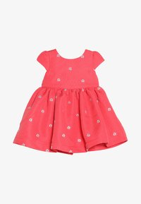 mothercare - FLOWER DRESS MINI GIRLS - Cocktailkjoler / festkjoler - coral - 3