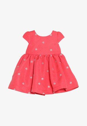 FLOWER DRESS MINI GIRLS - Koktejlové šaty/ šaty na párty - coral