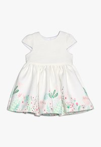 mothercare - FLORAL BORDER DRESS MINI GIRLS - Koktejlové šaty / šaty na párty - white - 0