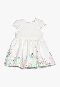 mothercare - FLORAL BORDER DRESS MINI GIRLS - Cocktailkjoler / festkjoler - white - 0