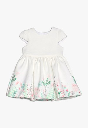 FLORAL BORDER DRESS MINI GIRLS - Juhlamekko - white