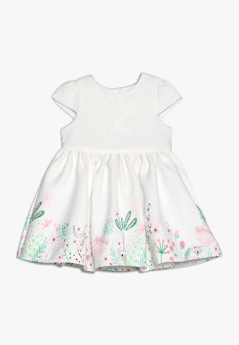 mothercare - FLORAL BORDER DRESS MINI GIRLS - Cocktailkjoler / festkjoler - white