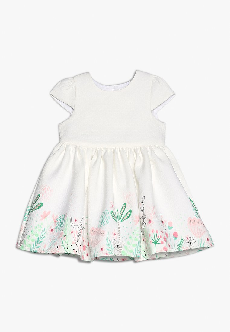 mothercare - FLORAL BORDER DRESS MINI GIRLS - Cocktailkleid/festliches Kleid - white