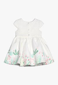 mothercare - FLORAL BORDER DRESS MINI GIRLS - Koktejlové šaty / šaty na párty - white - 1