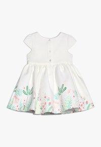 mothercare - FLORAL BORDER DRESS MINI GIRLS - Cocktailkjoler / festkjoler - white - 1