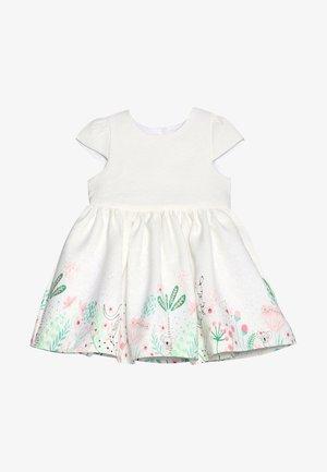 FLORAL BORDER DRESS MINI GIRLS - Koktejlové šaty/ šaty na párty - white