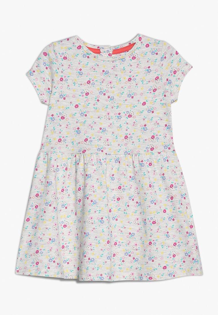 mothercare - FLORAL DRESS MINI GIRLS - Žerzejové šaty - grey marl