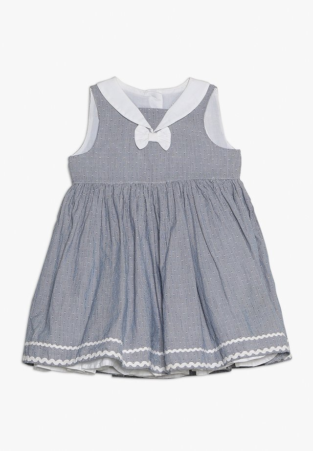 CHAMBRAY STRIPE DRESS BABY SET - Vapaa-ajan mekko - blue