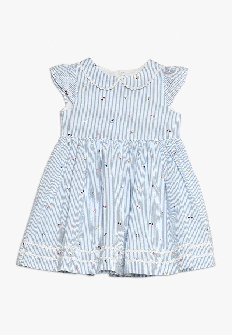 mothercare - TICKING STRIPE DRESS BABY - Freizeitkleid - light blue