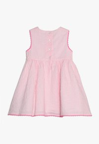 mothercare - STRIPE TRIM DRESS BABY - Korte jurk - pink - 1