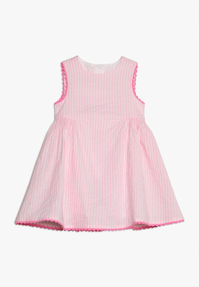 STRIPE TRIM DRESS BABY - Freizeitkleid - pink