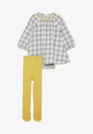 BABY CHECK DRESS TIGHTS SET - Robe d'été - grey