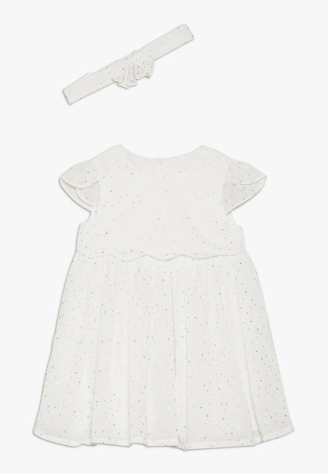 BABY STAR DESS SET - Koktejlové šaty/ šaty na párty - white
