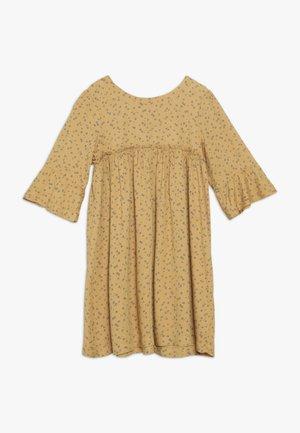 FLORAL FLUTE  DRESS - Vapaa-ajan mekko - mustard