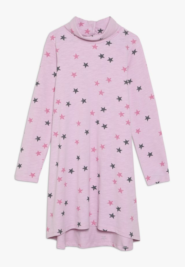 STARS ROLLNECK DRESS - Jerseykleid - pink