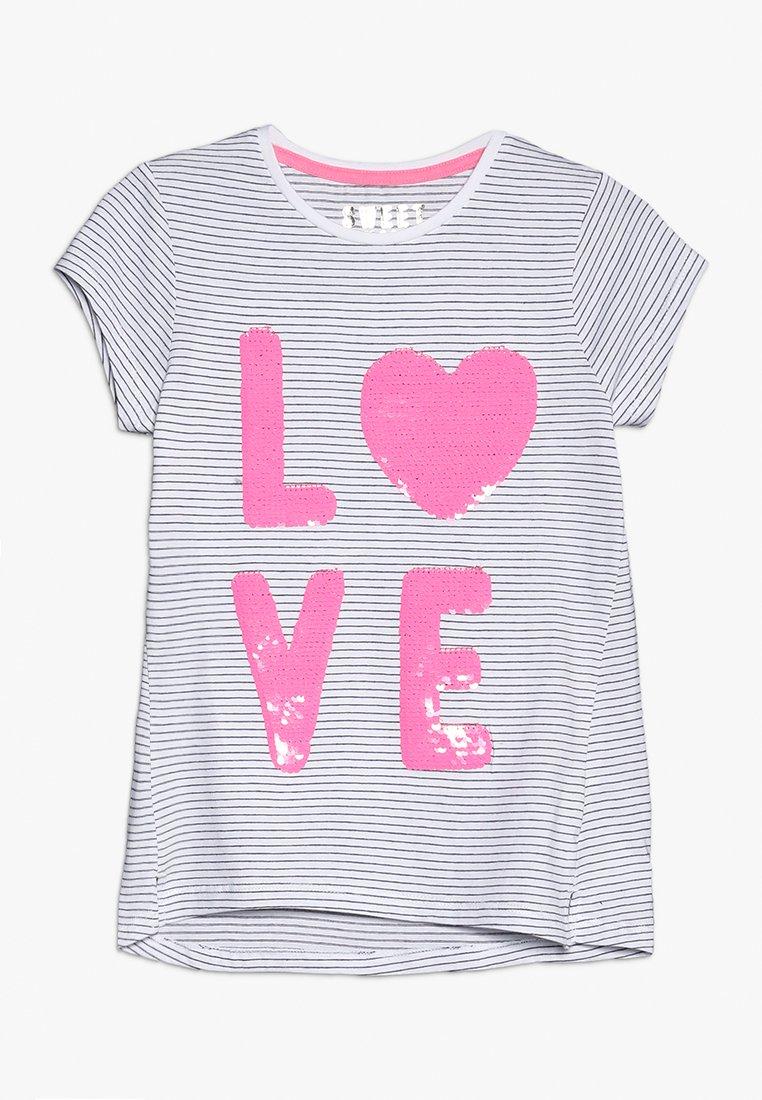 mothercare - LOVE STRIPESS TEE - Print T-shirt - black/white