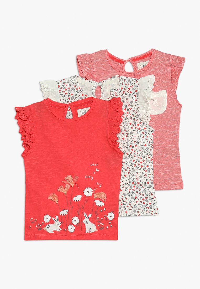 mothercare - BORD STRIPE FLORAL TEE MINI GIRLS 3 PACK - T-shirt imprimé - multi