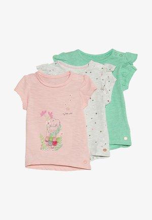FLORAL SPOT TEE MINI GIRLS 3 PACK - T-shirt med print - brights multi