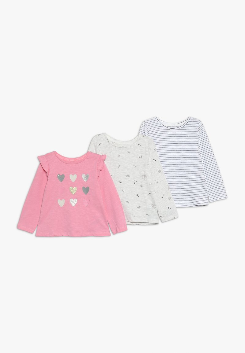 mothercare - BABY HEART 3 PACK  - Long sleeved top - multi