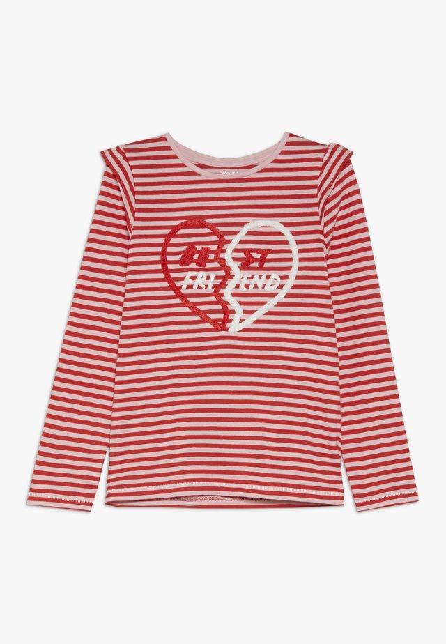 STRIPE TEE - Langarmshirt - red