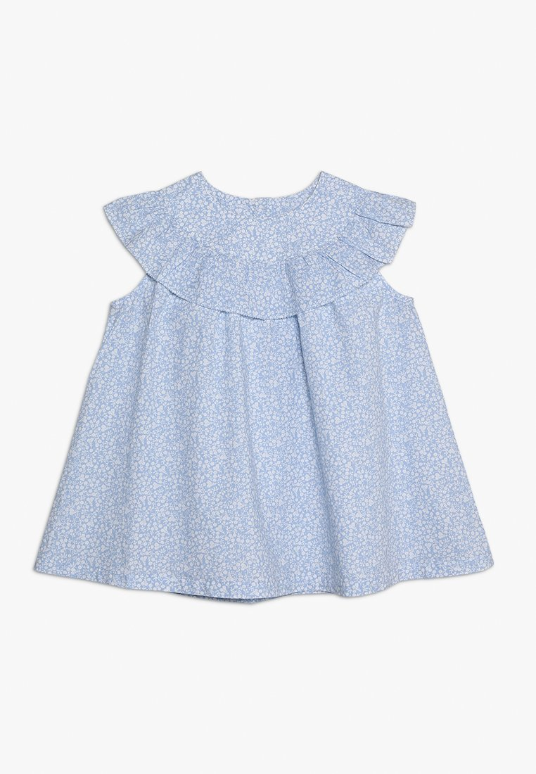 mothercare - NECK FRILL BLOUSE - Blus - blue