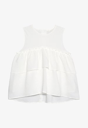 TIERED BLOUSE - Túnica - white