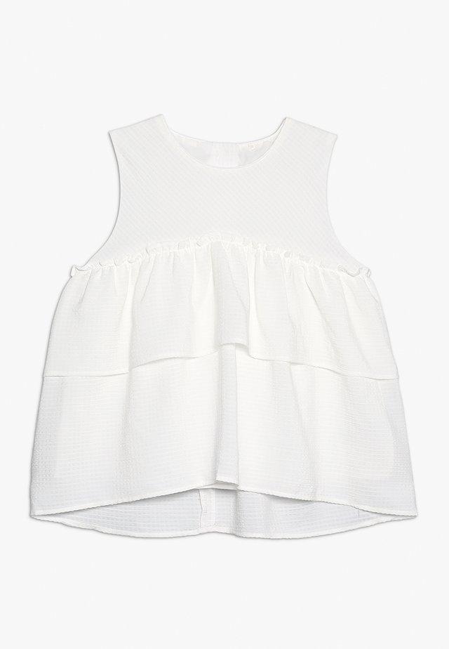 TIERED BLOUSE - Tunika - white
