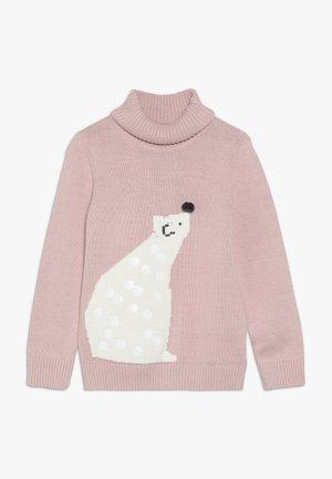 POLAR BEAR ROLLNECK - Stickad tröja - pink