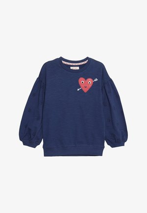 SLUB HEART BRODERIE JUMPER - Sweatshirts - navy
