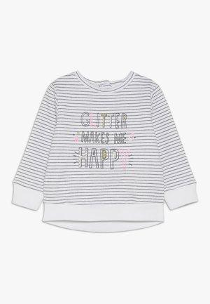 BABY STRIPE GLIT HAPPY  - Sweater - white