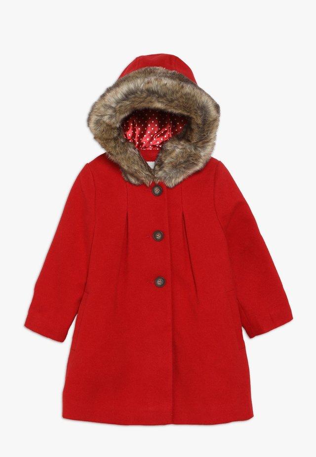 BABY FLOW BLEND COAT WITH HOOD - Zimní kabát - red