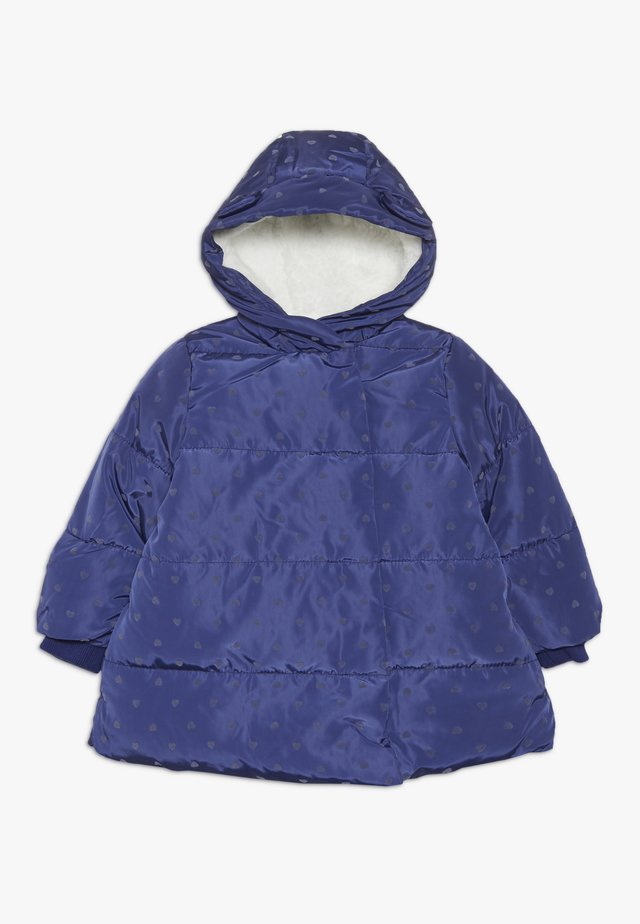 BABY PADDED COAT DUVET WRAP HEART - Wintermantel - navy