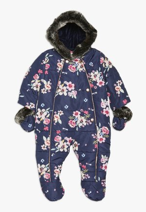 BABY FLORAL SNOWSUIT - Overall - navy