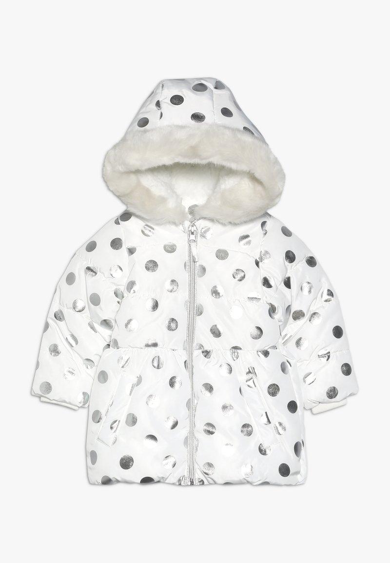 mothercare - BABY FLOW PADDED FOIL SPOT  - Zimní kabát - cream