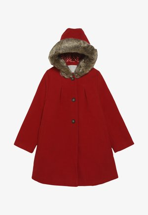 COAT WITH HOOD - Zimní kabát - red