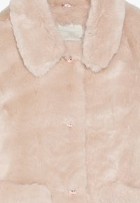 mothercare - OUT PINK FAUX FUR COLLARLESS COAT - Winter jacket - pink - 3