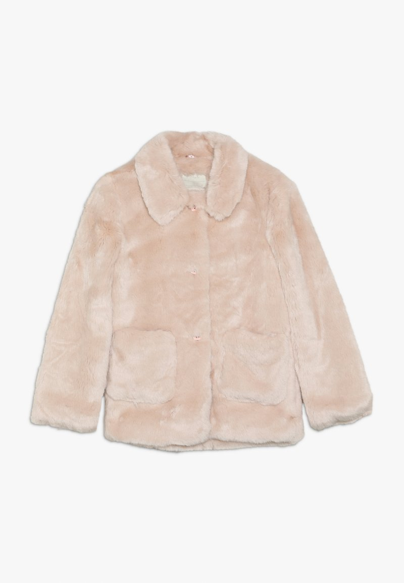 mothercare - OUT PINK FAUX FUR COLLARLESS COAT - Winter jacket - pink