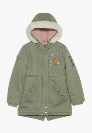 PADDED WITH TRIMS - Parka - khaki