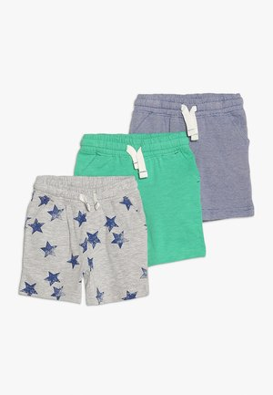 MINI BOYS 3 PACK - Trainingsbroek - dark blue/mottled grey/green