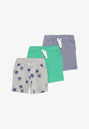 MINI BOYS 3 PACK - Träningsbyxor - dark blue/mottled grey/green
