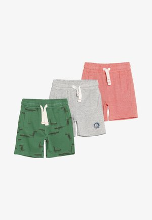 MINI BOYS 3 PACK - Shorts - green/mottled grey/red