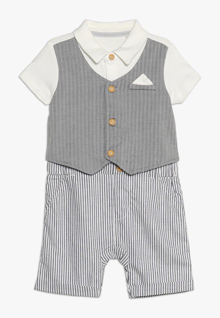 mothercare - MOCK WAISTCOAT ROMPER BABY - Jumpsuit - grey