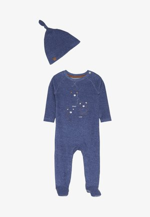 BABY TOWELLING AND HAT - Grenouillère - blue