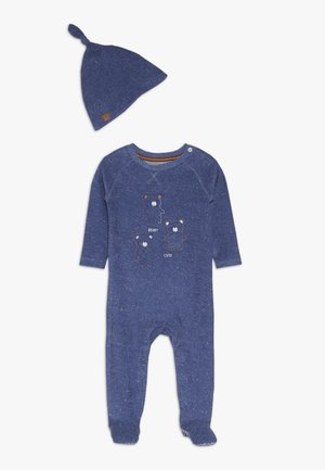 BABY TOWELLING AND HAT - Nattdrakt - blue