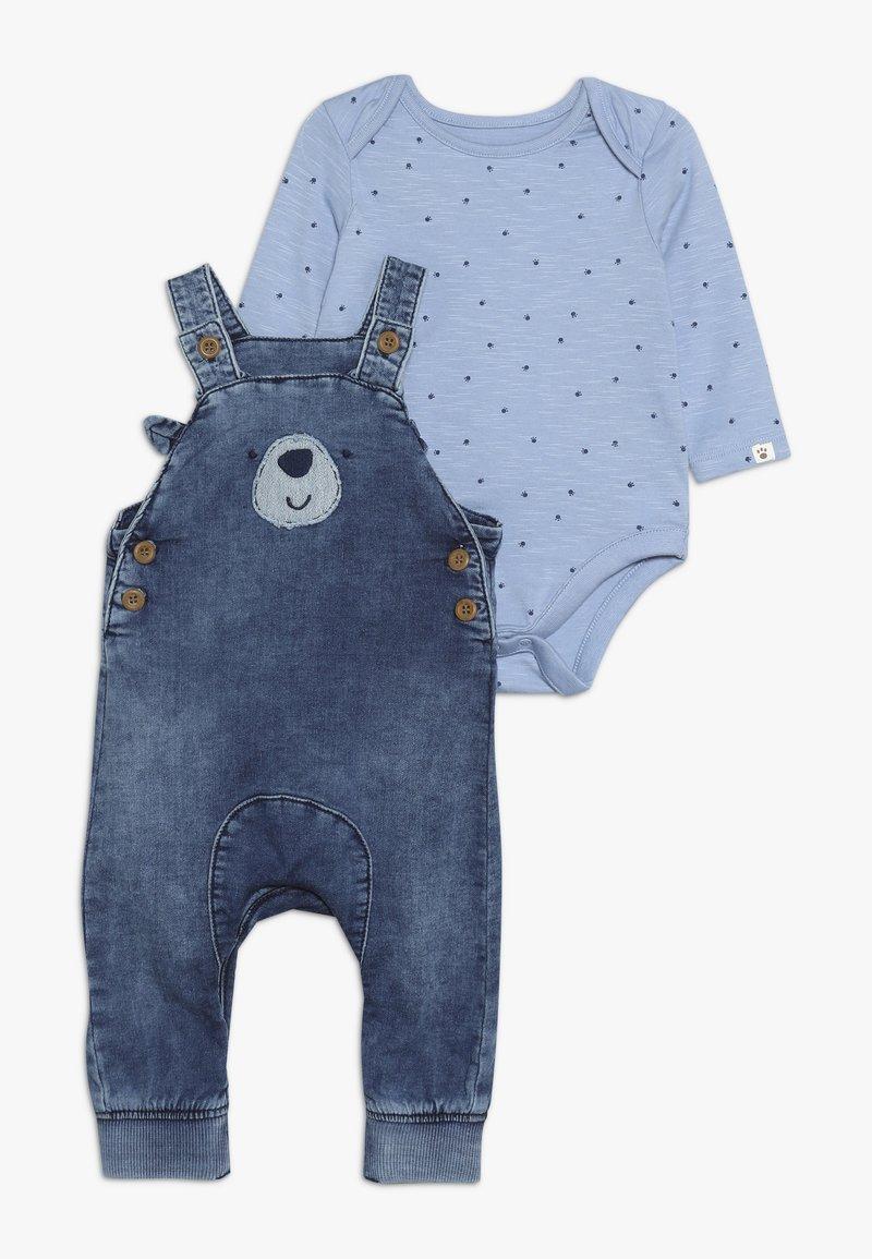 mothercare - BABY BEAR DUNGAREE - Dungarees - denim
