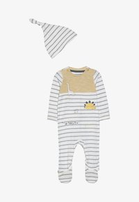 mothercare - BABY STRIPE AND HAT SET - Dupačky na spaní - mustard - 2
