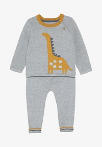 mothercare - BABY DINO KNITTED SET - Jumper - grey