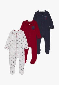 mothercare - BABY HANGING SLEEPSUITS 3 PACK - Pyjama - navy - 0