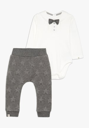 BABY EMBOSSED STAR SET - Pantalon classique - grey